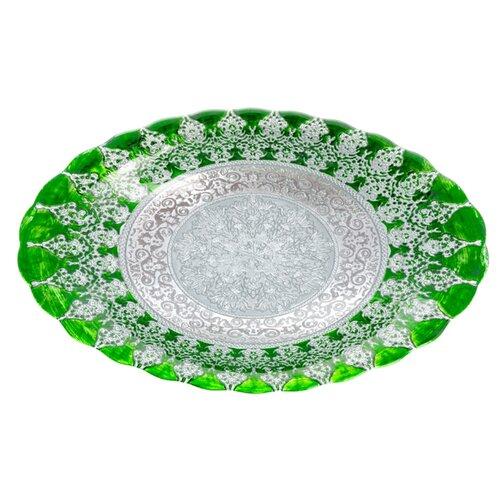 Akcam Овальное блюдо Хюррем Изумруд 40 см изумрудныйБлюда и салатники<br>