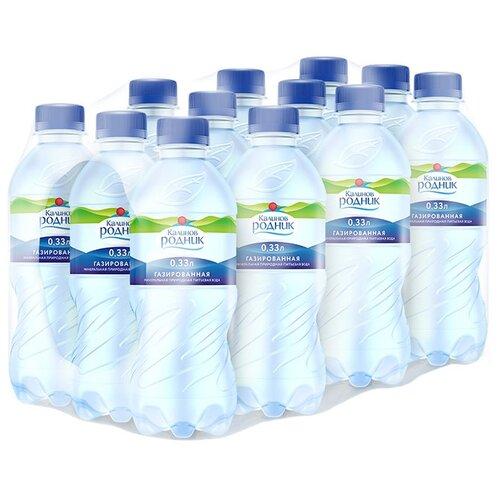 Вода минеральная Калинов Родник газированная, ПЭТ, 12 шт. по 0.33 л вода минеральная калинов родник газированная пэт 6 шт по 1 5 л