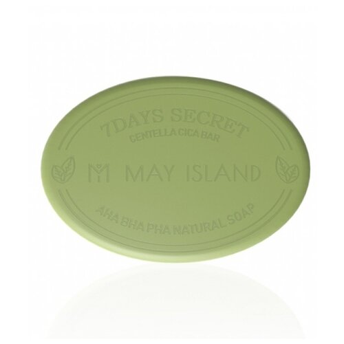 MAY ISLAND мыло для проблемной кожи 7 Days Secret Centella Cica Pore Cleansing Bar, 100 г
