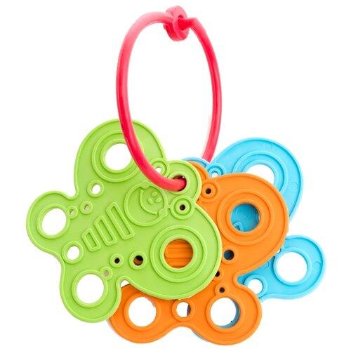 Купить Прорезыватель-погремушка Пластмастер Полет бабочки зеленый/голубой/оранжевый, Погремушки и прорезыватели