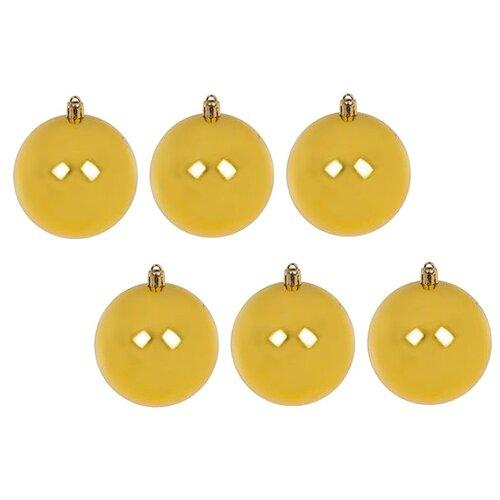 Набор шаров SNOWMEN ЕК0509, золотой, 6 шт. набор шаров snowmen ек0509 золотой 6 шт