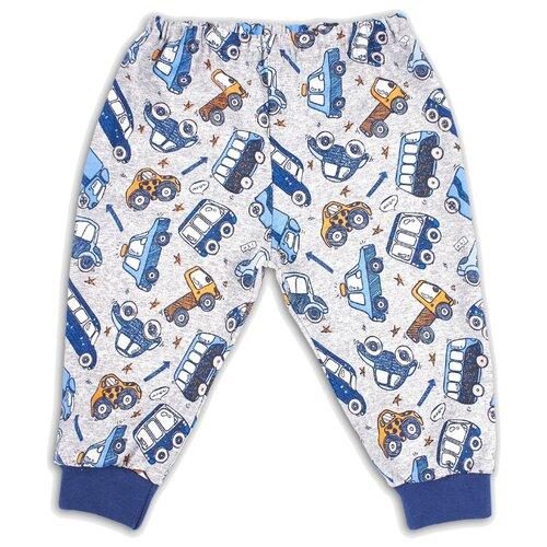 Брюки Веселый Малыш Маленький автолюбитель 33170/ма размер 68, серый/синий брюки веселый малыш морской котик 33170 one размер 80 молочный серый синий