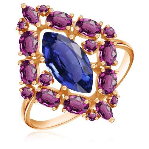 Бронницкий Ювелир Кольцо из красного золота Д0268-714502, размер 17 бронницкий ювелир кольцо из красного золота д0268 017060 размер 17