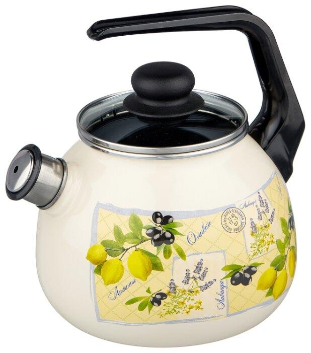 Купить Appetite Чайник со свистком 4с209я 3 л, citrus по низкой цене с доставкой из Яндекс.Маркета (бывший Беру)