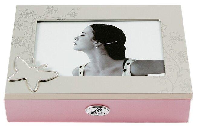 Moretto Шкатулка 139608 розовый/серебристый