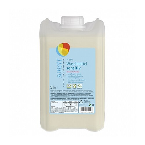 Жидкость Sonett Sensitive для чувствительной кожи, 5 л, бутылка
