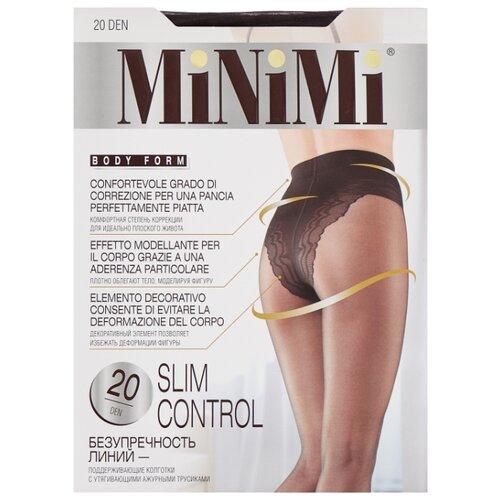 Колготки MiNiMi Slim Control 20 den, размер 3-M, fumo (серый) колготки minimi lanacotone 180 den размер 2 s m fumo серый