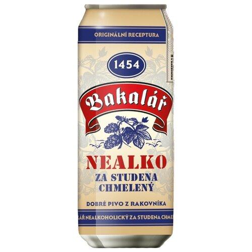 Светлое пиво Bakalar холодного охмеления безалкогольное 0.5 лБезалкогольное пиво и вино<br>