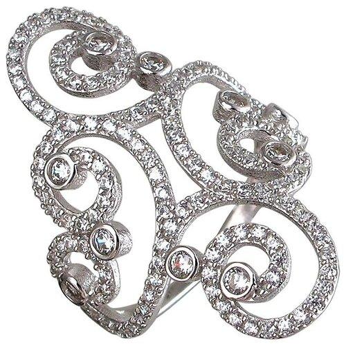 Эстет Кольцо с фианитами из серебра 01К1510689, размер 17.5 ЭСТЕТ