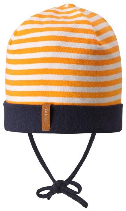 Шапка Reima размер 42/44, оранжевый/белый