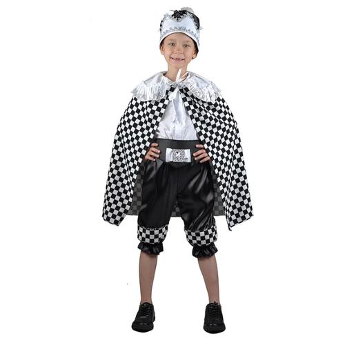 Купить Костюм Карнавалия.рф Шахматный король (M-0211), белый/черный, размер 28/110-116, Карнавальные костюмы