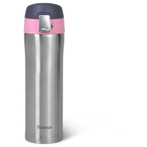 Термокружка Fissman 420 мл, цвет Розовый (нерж.сталь) (9819)