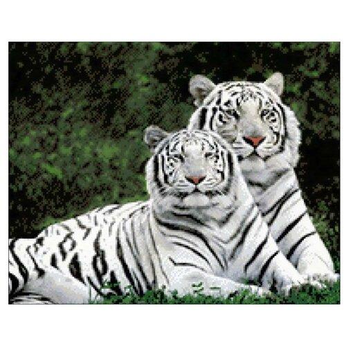 Фото - Гранни Набор алмазной вышивки Влюбленные тигры (Ag408) 48х38 см гранни набор алмазной вышивки славянские сказки ag 135 48х38 см