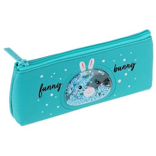 Berlingo Пенал-косметичка Funny bunny (PM07214) голубой