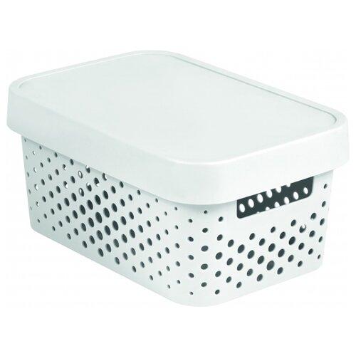 CURVER Коробка с крышкой Infinity 12,5x17,5x26см белыйКорзины, коробки и контейнеры<br>