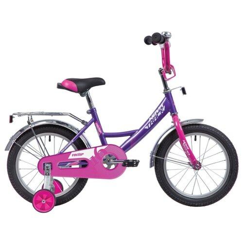 Детский велосипед Novatrack Vector 16 (2020) лиловый (требует финальной сборки) детский велосипед novatrack vector 18 2019 серебристый требует финальной сборки