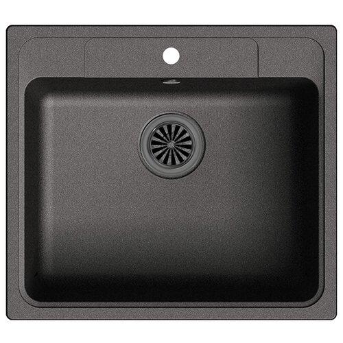 Фото - Врезная кухонная мойка 57 см Ewigstein Elegant 60 черный врезная кухонная мойка 60 5 см granmill 024 24чер черный