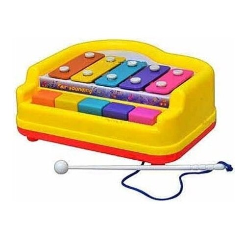 Купить Shantou Gepai ксилофон 3010 с клавишами разноцветный, Детские музыкальные инструменты