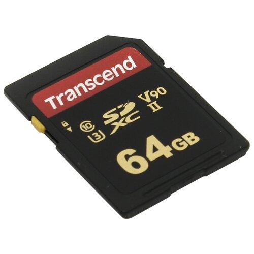 Фото - Карта памяти Transcend 64GB UHS-II U3 Class 10 V90 SDXC/SDHC MLC R/W 285/180MB/s карта памяти transcend 32gb 700s sdhc uhs ii u3 v90 285 180 mb s