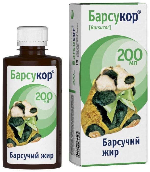Барсучий жир Барсукор топленый 200 мл