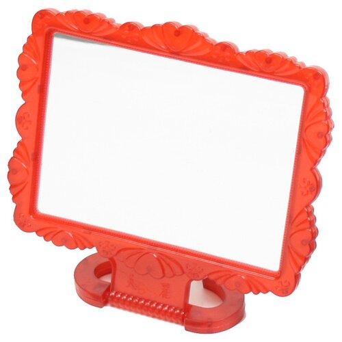 Зеркало косметическое настольное Florento Резная окантовка (420-270) красный