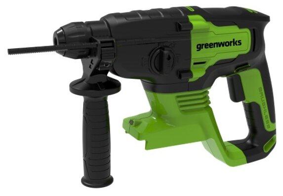 Перфоратор аккумуляторный greenworks GD24SDS2 3803007 24 В (2 Дж)