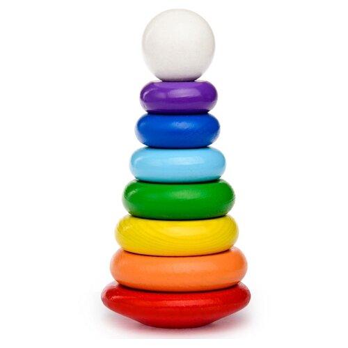 Фото - Пирамидка Томик Радуга 204 деревянные игрушки томик пирамидка 9 деталей