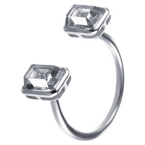 Фото - JV Кольцо с фианитами и кварцами из серебра C5171R-KO-QZ-001-WG, размер 16 jv кольцо с фианитами из серебра car2926 ko 004 wg размер 16