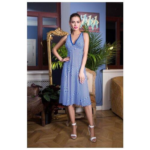 Пляжное платье Mia-Mia размер M(46) синий/белый