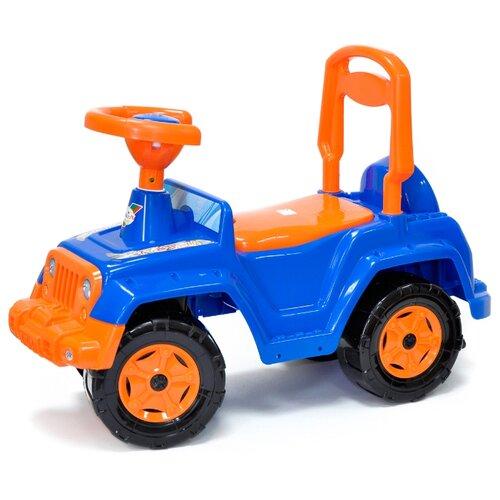 Купить Каталка-толокар Orion Toys 4 х 4 (549) со звуковыми эффектами синий, Каталки и качалки