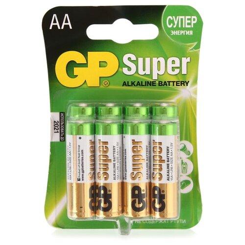 Фото - Батарейка GP Super Alkaline AA 8 шт блистер батарейки gp super alkaline lr03 30 шт gp 24a b30