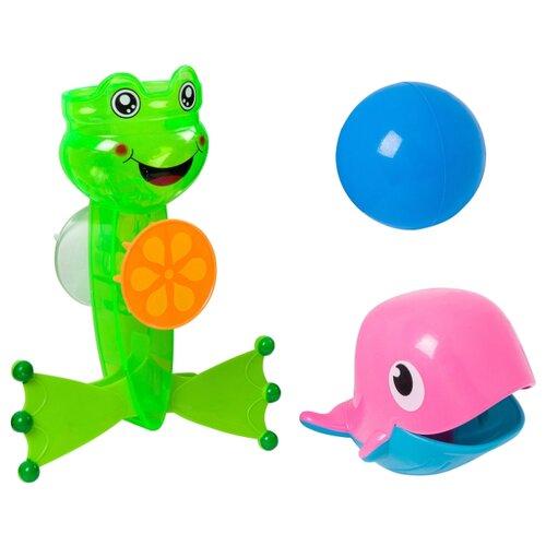 Игрушка для ванной BONDIBON Мельница Лягушка (ВВ2685) зеленый/розовый/голубой