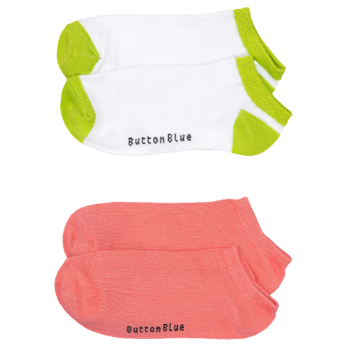 Носки Button Blue комплект из 2 пар, размер 14-16, белый/розовый
