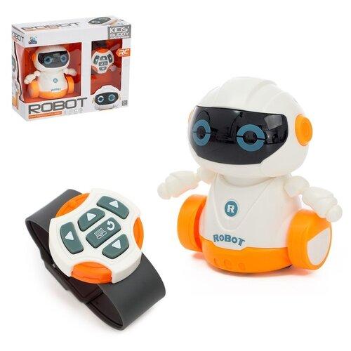 Купить Робот радиоуправляемый Глазастик , световые и звуковые эффекты, работает от батареек 4433012, Сима-ленд, Роботы и трансформеры