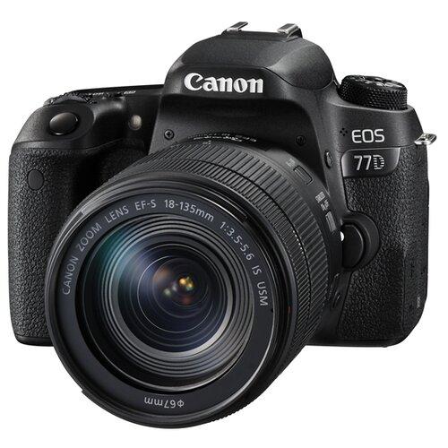 цена на Фотоаппарат Canon EOS 77D Kit черный EF-S 18-135mm f/3.5-5.6 IS USM