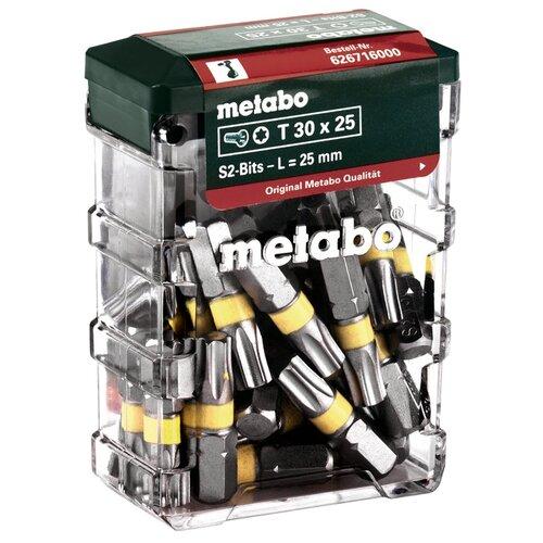Набор бит Metabo 626716000, 25 предм. набор бит metabo 630454000 20шт
