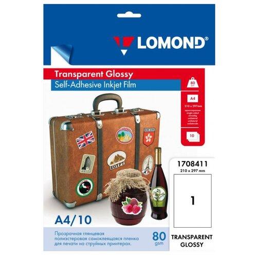 Пленка Lomond А4 1708411 110 г/м² 10 лист. бесцветный 1 шт.