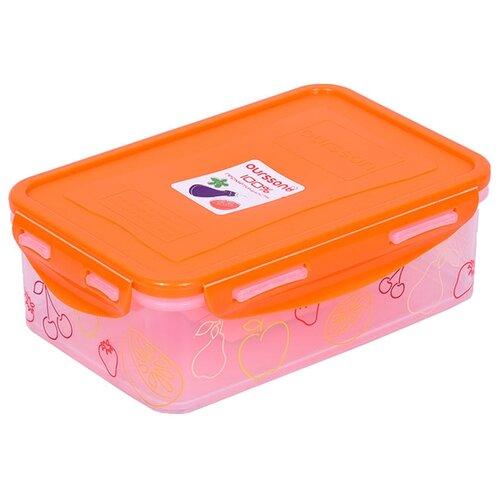 Фото - Oursson Контейнер CP1103S/CP1103-1S оранжевый/прозрачный oursson контейнер cp1103s cp1103 1s оранжевый прозрачный
