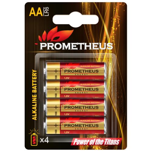 Батарейка Prometheus Energy AA/LR6 4 шт блистерБатарейки и аккумуляторы<br>