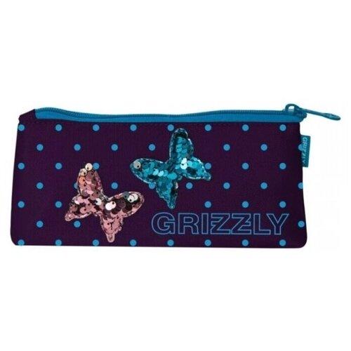Купить Пенал школьный Grizzly легкий, бабочки, Пеналы