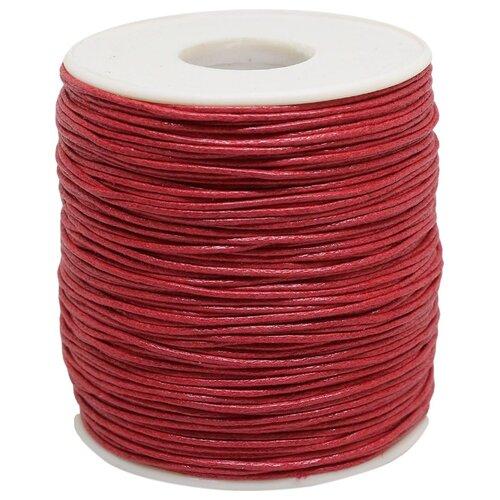 MH Industry Шнур вощеный цветной 0371-9002 1 мм х 100 м С171 красный