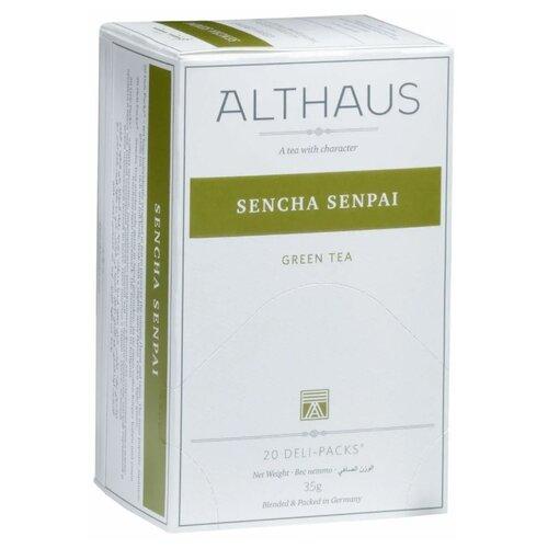 Чай зеленый Althaus Sencha Senpai в пакетиках , 20 шт. фото