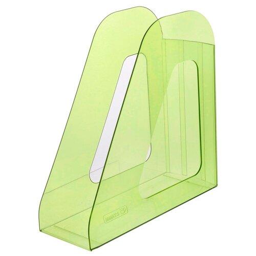 Лоток вертикальный для бумаги СТАММ Фаворит тонированный зеленый лайм лоток вертикальный для бумаги стамм фаворит тонированный темно красный вишня