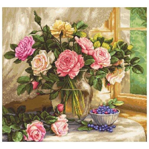 Купить Luca-S Набор для вышивания Натюрморт с голубикой 29 х 27 см (G588), Наборы для вышивания