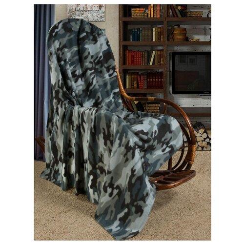 Плед Guten Morgen Камуфляж (серый хаки), 150 x 200 см хаки серыйПледы и покрывала<br>