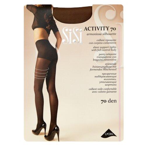Фото - Колготки Sisi Activity 70 den, размер 5-MAXI XL, naturelle (бежевый) колготки sisi activity 30 den размер 3 m naturelle бежевый