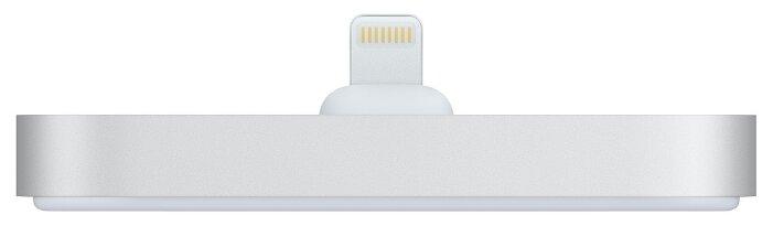 Док-станция для телефона Apple с разъёмом Lightning серебристый