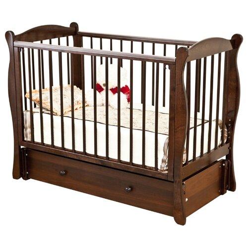Купить Кроватка Красная Звезда Уралочка С742 (классическая), продольный маятник шоколад, Кроватки