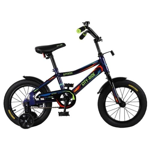 цена на Детский велосипед CITY-RIDE Spark 14 (CR-B2-0214) синий (требует финальной сборки)