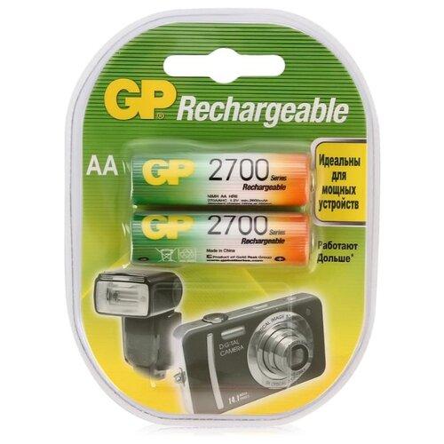 Фото - Аккумулятор Ni-Mh 2700 мА·ч GP Rechargeable 2700 Series AA 2 шт блистер аккумулятор smartbuy sbr 2a02bl2300 aa 2 шт